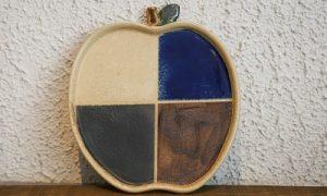 りんごプレート 4色 かかや春日部