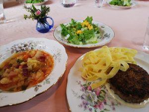 2019.2 ロシア料理 ロシア風ビトックパスタ添え かかや春日部 料理教室 クッキングサロン
