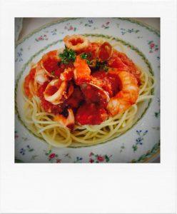 魚介のスパゲティ かかや春日部 クッキングサロン 料理教室 トマトソース