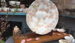 3月前半陶器ディスプレイ 桜大皿 かかや春日部 陶器