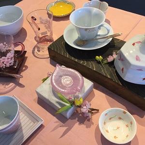 春の器 2019.3 かかや春日部 桜の陶器