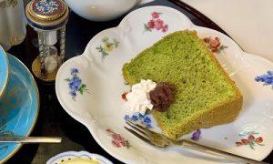 20190601 抹茶のシフォンケーキ かかや 春日部 カフェ クッキングサロン 料理教室