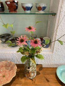 2019.8 夏のかかや 花器5 陶器ディスプレー かかや春日部