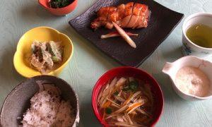 鶏の味噌漬け焼き献立2 2019.9 健康ごはん塾 かかや春日部 クッキングサロン 料理教室