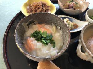 鮭と大根のお粥 冬バテ解消メニュー 健康ごはん塾 2020.2 かかや クッキングサロン 料理教室 春日部
